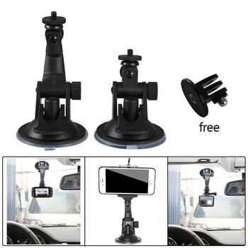 Car Mount Camera Suction Cup Stand Holder DVR Mini Car Suction Cup Mount Tripod Holder for Gopro Hero Sjcam Sj4000 Xiaomi Yi image