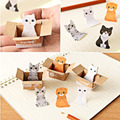 2016 New Lovely Carton Cats House It Post It Bookmark Mini Sticky Notes Memo Flags Pages Marker Sticker School Home Supplies