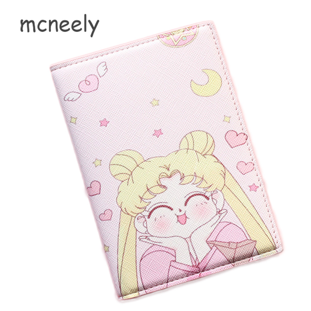 2018 Card Holder Purse Multi-function Bag Cover on the passport Holder Protector Wallet Business Card Sailor Moon Passport Cover2018 Card Holder Purse Multi-function Bag Cover on the passport Holder Protector Wallet Business Card Sailor Moon Passport Cover