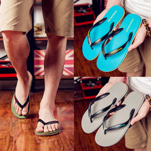 Da Bu people male male big summer sandals slippers slip and code simple leisure beach shoes men's slippers