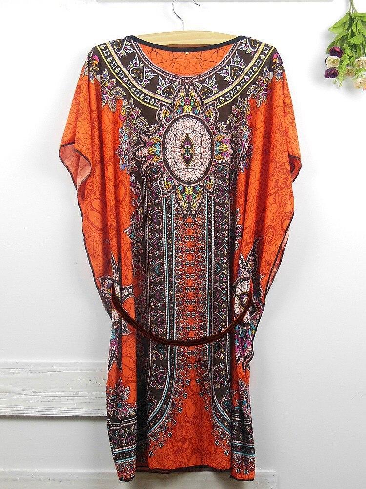 Vintage Dress 2017 New Summer Style Retro Print Boho Loose Casual Dress Bohemian Tunic Beach Dress Vestidos Plus Size Dress 18