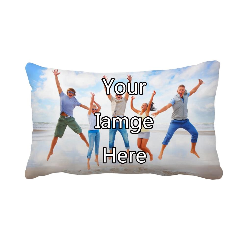 your image here printed customized decorative cushion cover sofa decoration personalised rectangle throw pillow case 30x50cm