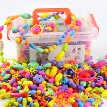 485pcs Pop Beads Creative Arts & Crafts DIY Wear Beads Jewelry Bracelet Necklace Building Toys Kit Educational Toy for Children(China)