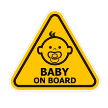 Cute PVC Car Stickers Baby on Board Tuning Window Cartoon Decals Auto Detailing