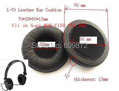 Linhuipad MDR V150 căști pernuțe din piele pentru urechi pernute, diametru 70mm, 4 bucăți / lot, pentru Sony MDR-V150 V250 V300 ATH-SJ3 ATH-SJ5