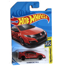 New Arrivals 2018 8f Hot Wheels 1:64 16th honda civic type r car Models Collection Kids Toys Vehicle For Children hot cars(China)