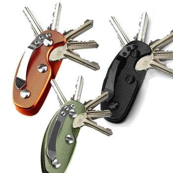 1PC  Aluminum Smart Key Holder Organizer Clip Folder Keychain Pocket Tool useful aluminum casual alloy etc organizer home 6 key accessories keys folder holder outdoor key keychain clip