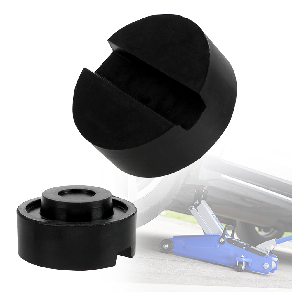 LEEPEE Car Removal Tool Slotted Floor Jack Pad Black Rubber Car Jack Support Block For Pinch Weld Side Pad