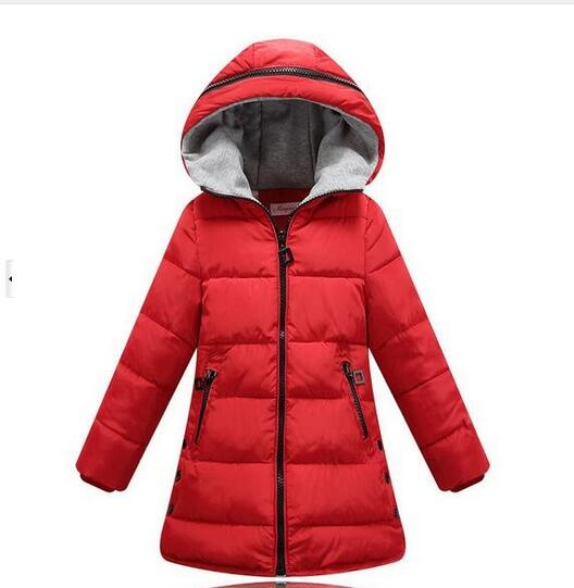 445c3efc1381 Winter Coats for Teenage Girls Cotton-Padded Warm Children s Winter Jackets  4-13 Years Girls Parka Kids Outerwear   Coat