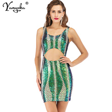 Sexy Red black green gold Sequins summer dress women Hollow Elasticity party dress elegant club bodycon midi dresses vestidos HL sexy white lace summer dress women perspective long sleeve v neck beach party dresses elegant club midi dress hollow vestidos hl