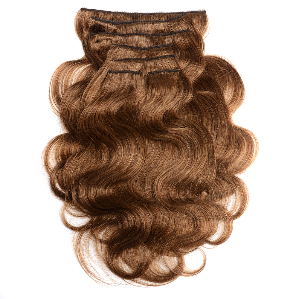 Doreen 70gram Full Head Clip In Human Hair Extensions Brazilian Wavy