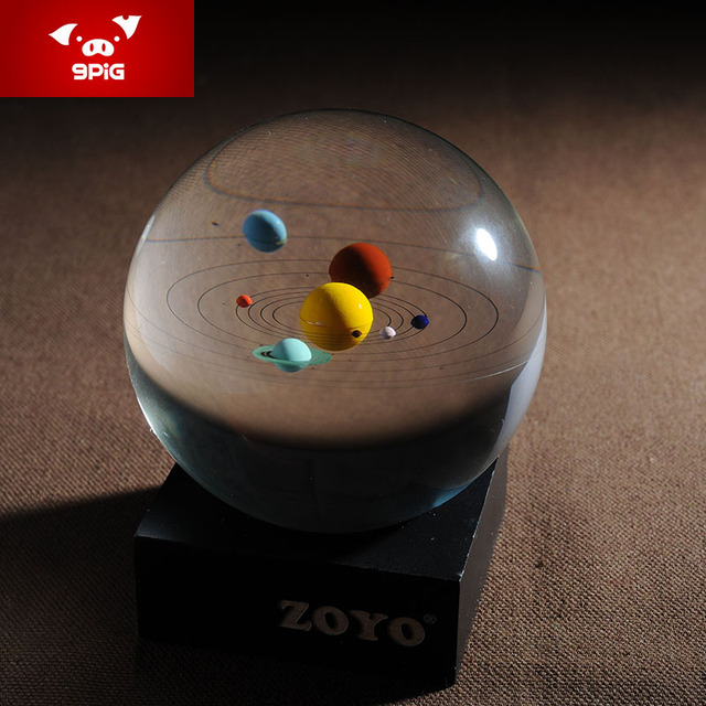 Nine Hong Kong Pig 3D Solar System Eight Planets Crystal Ball Ornaments Creative Birthday Gift To Send Valentine Wedding