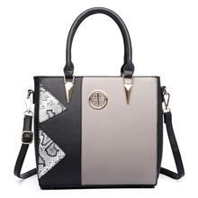 New Fashion women Patchwork Snake Skin Leather Handbag Large A4 Book Notebook iPad Shoulder  Tote Hand Bag Crossbody Bags