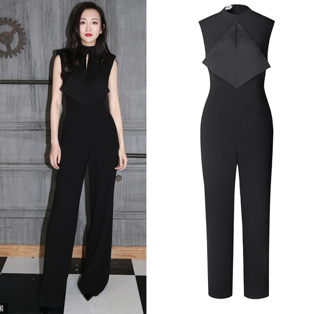 c688071d2a3 2018 elegant women jumpsuit temperament Fashion Rompers And Jumpsuits Women  Sexy Sleeveless Playsuit Bodysuits work wear