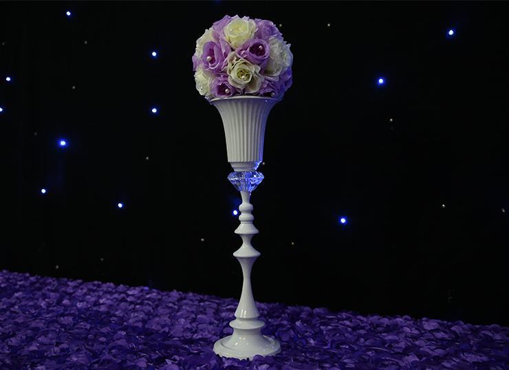 55cm vysoký bílý květ váza / květ evropský styl svatební - Pro svátky a večírky