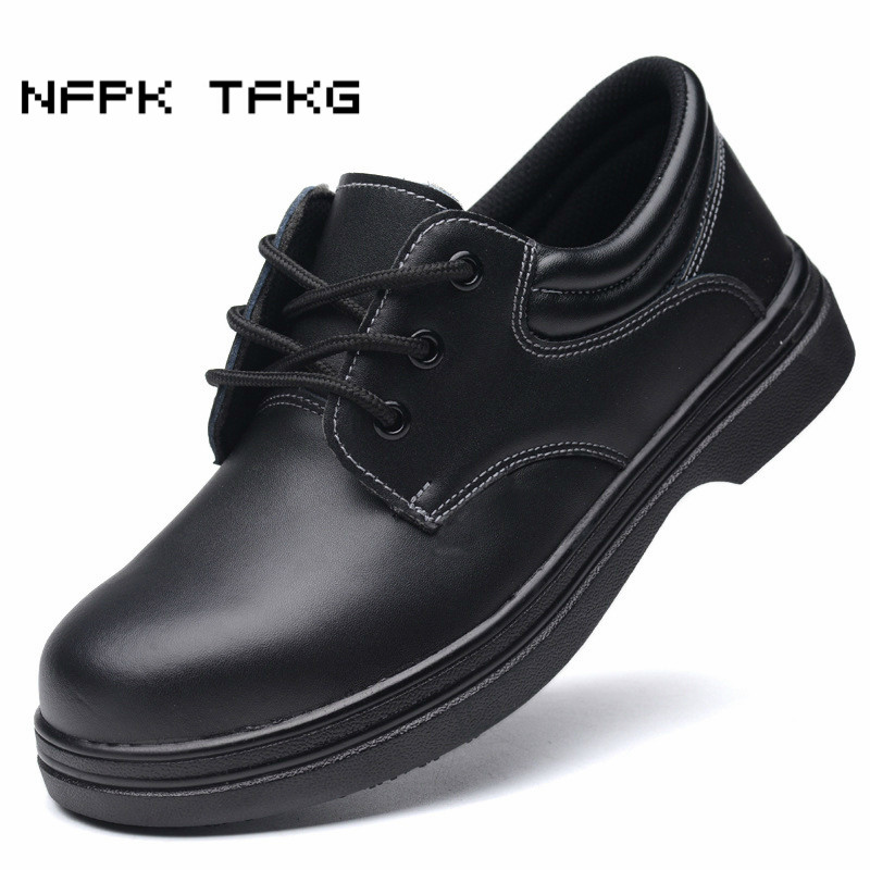 men's leisure breathable large size steel toe cap work safety chef shoes non-slip kitchen cook sneaker anti-pierce security boot tigergrip rubber non slip safety shoe boot cap visitor overshoe anti smashing steel toe cap boot men and women work shoes cover