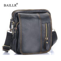 BAILLR Brand Hot Sale Men Pu Leather Crossbody Shoulder Bag High Quality Luxury Shoulderbag Designer Fashion