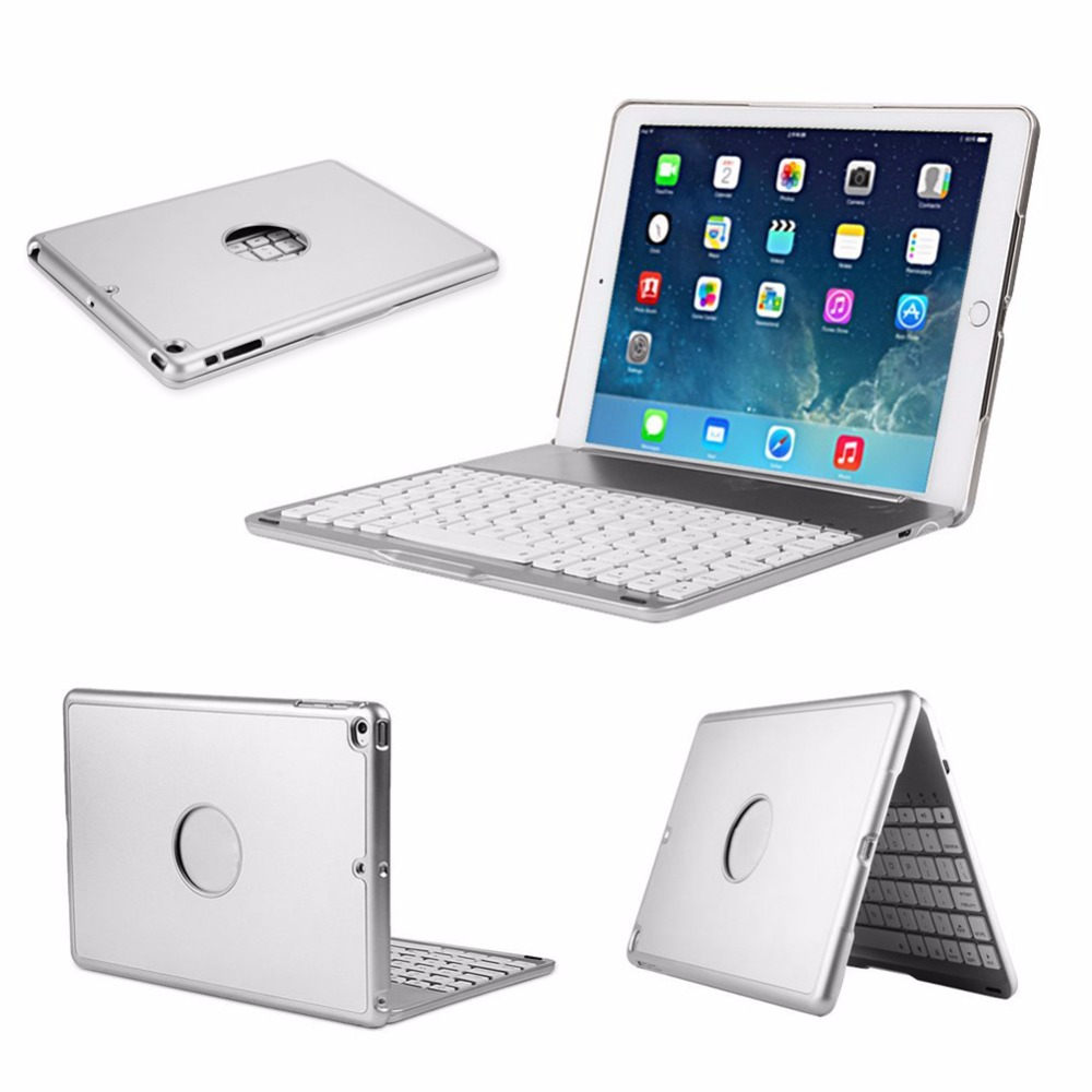 F8S 7 Colors Backlit LED Bluetooth Wireless Keyboard Cover For Apple iPad Air 1