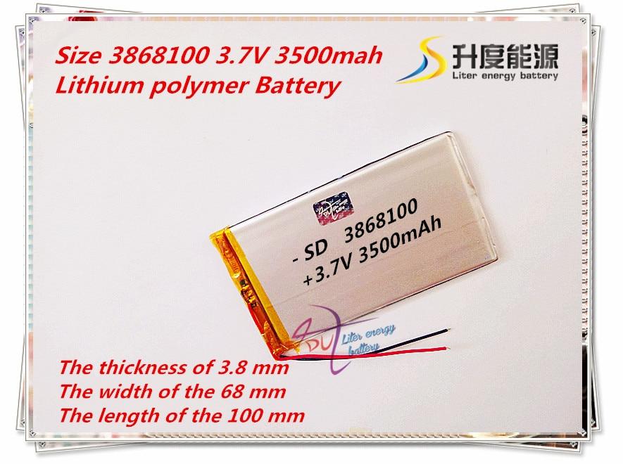 Liter Energie Batterie Größe 3868100 3,7 V 3500 Mah Die Tablet Batterie Für Pda Vx610w Lithium-polymer-batterie Ein BrüLlender Handel Stromquelle Batterien