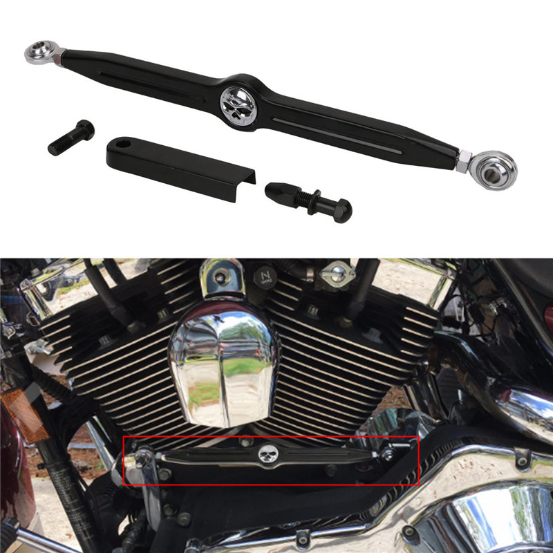 купить Black CNC Skull Shift Linkage For Harley Davidson Softail Road King Electra Glide CVO Fat Boy Motorcycle 1980-2017 DecorationC/5 недорого