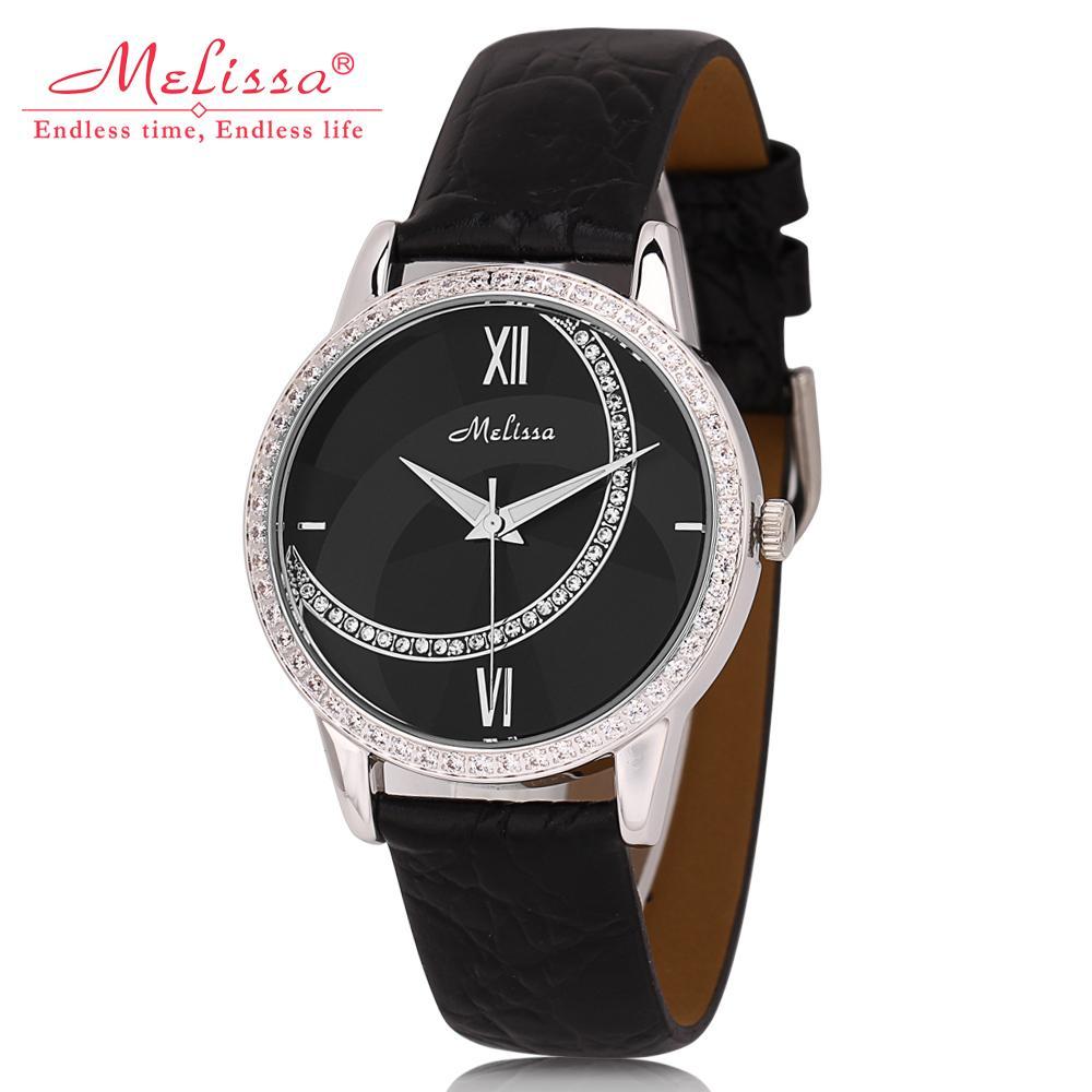 Moon Element Women Fashion Casual Real Leather Watches Quartz Crystals Wristwatch Unisex Design Melissa Clock 3ATM Relojes WA188