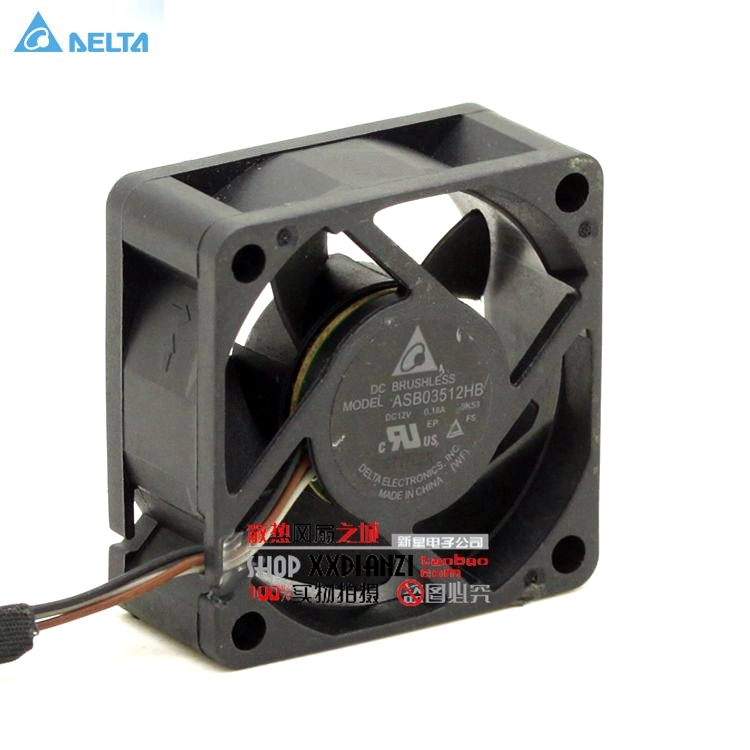 Delta ASB03512HB 3515 35mm 3.5cm DC 12V 0.18A three line fan axial case cooling fan original delta tfc1212de 12cm 12038 12v 3 9a 252cfm winds of booster pwm fan violence for bitcoin miner super cooling