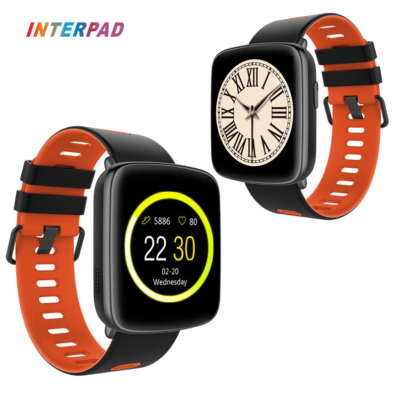 Interpad GV68 Smart Watch Bluetooth 4.0 IP68 Swim Waterproof With Heart Rate Monitor Sports Watch Men Women For Xiaomi Huawei interpad smart watch professional sports algorithm altimeter thermometer smartwatch heart rate monitor smart watch for xiaomi
