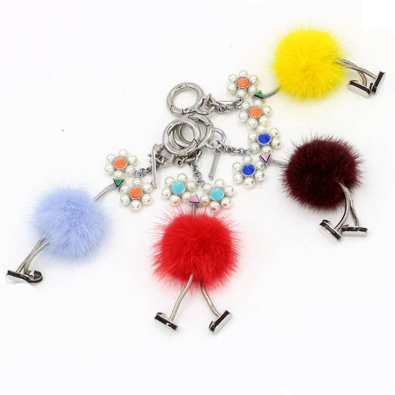High quality metal real monsters robot key chain genuine mink fur pompom bag charm cute chick handbag keyring luxury pendant надувное кресло onlitop fasigo 898271 page 8