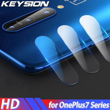 KEYSION Back Camera Lens Tempered Glass For Oneplus 7 Pro 6 6T 5 5T HD transparent Glass Lens Protector Film For One Plus 7 1+7