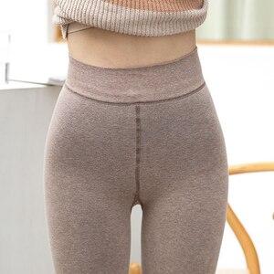Image 5 - 1800D grube zimowe damskie rajstopy z polaru ciepłe rajstopy Slim Sexy elastyczna Collant rozciągliwe rajstopy pończochy pełnej stopy bez stóp