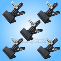 5PCS Studio Photo Heavy Duty Background Clamp Clip head with Spigot for Photography Lighting