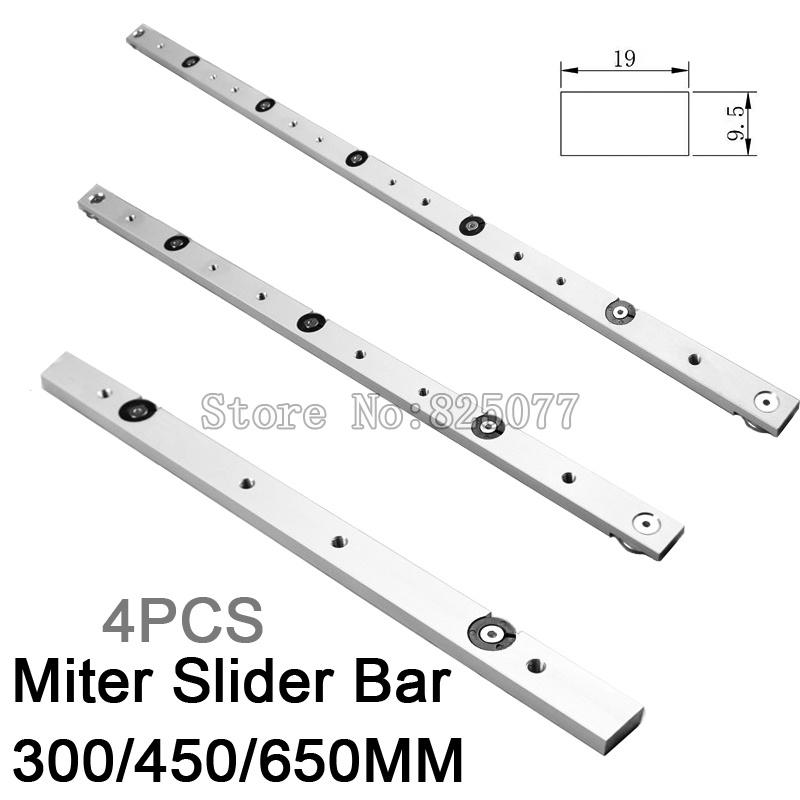 4PCS Aluminium Miter Slider Bar Length 300mm (12