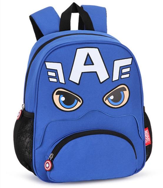 Avengers Captain America Spiderman Bag Kindergarten Preschool Backpacks  Children School Bags for Boys Kids Schoolbag Rucksack