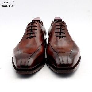 Image 4 - Cie zapatos de vestir de cuero para hombre, calzado de oficina marrón, suela de Piel De Becerro auténtica, trajes de cuero Formal, hechos a mano, n. ° 8