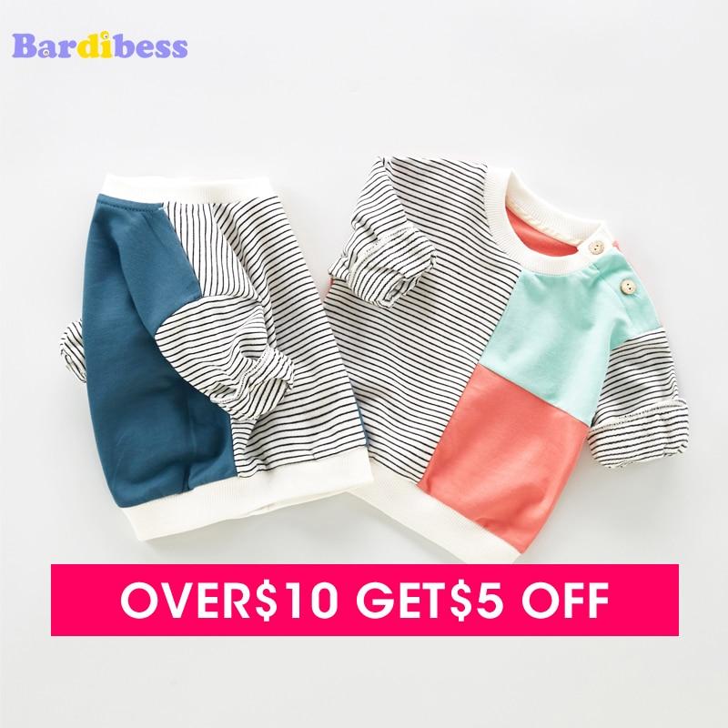 Bardibess Baby Autumn Cotton Sweatshirts for boys Newborn Causal Toddler Kids Tops O-Neck Long Sleeve Baby 0-3T Fashion T-shirts