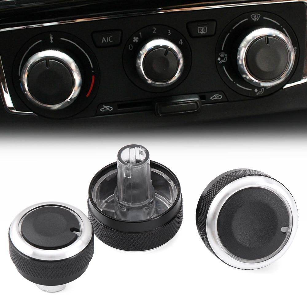 Регулятор температуры кондиционера VCiiC, ручка переменного тока для VW Jetta MK6 Bora Golf 5 Tiguan Touran Passta B6 B7, для Skoda Octavia