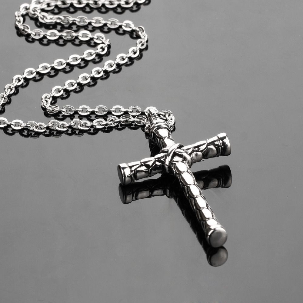 Rock 316l stainless steel cross necklace famous brand silver chain rock 316l stainless steel cross necklace famous brand silver chain men cross pendant necklaces perfect design fl973 in pendant necklaces from jewelry aloadofball Image collections