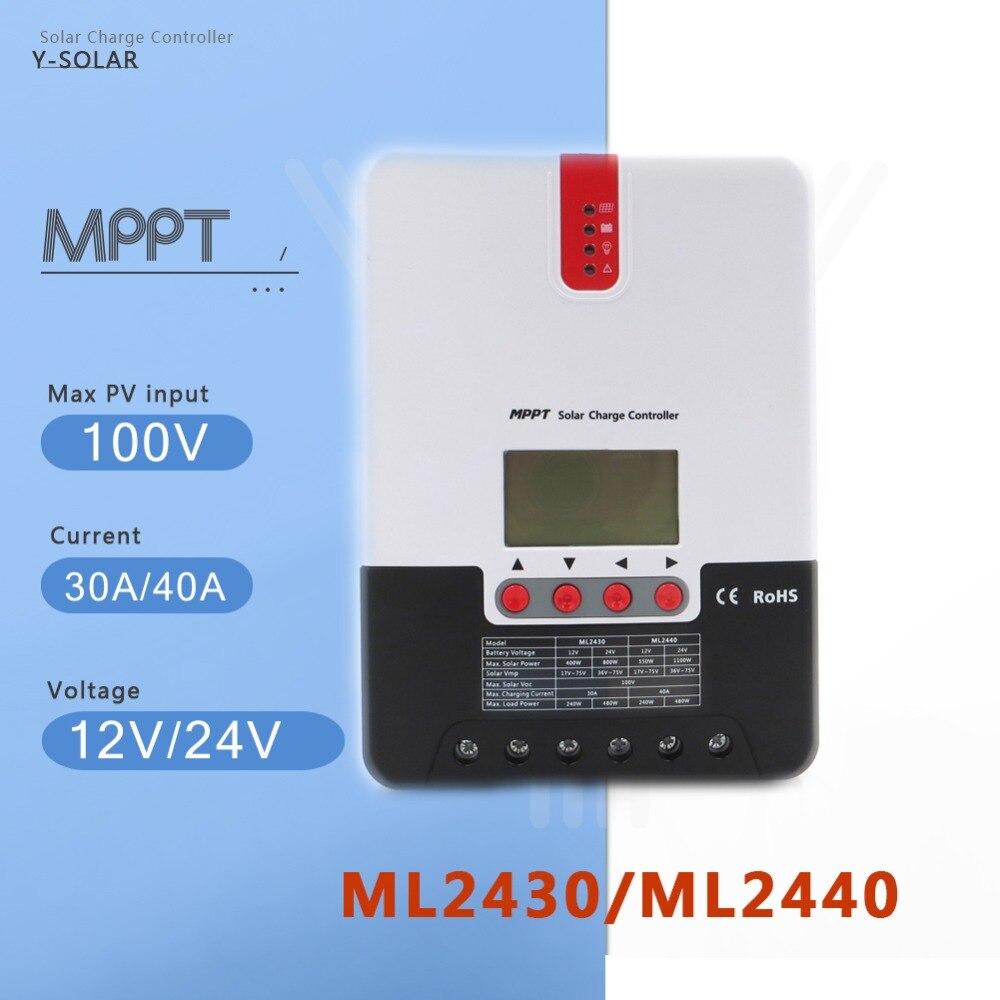 Y SOLAR MPPT 30A 40A DC 12 В/24 В Авто контроллер заряда фотовольтаическая батарея зарядное устройство