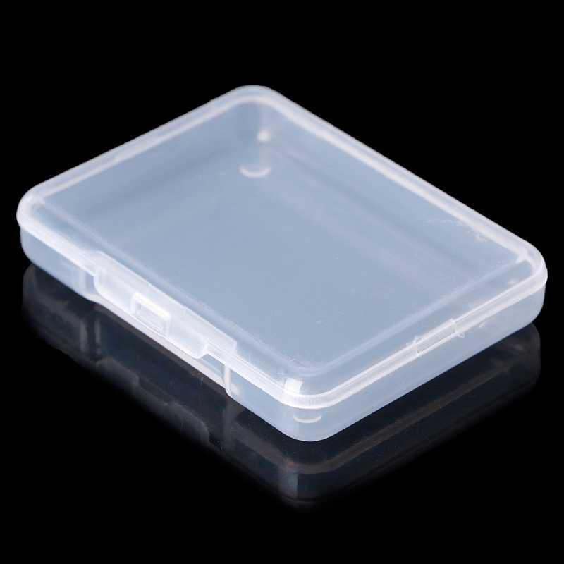 라운드 투명 플라스틱 용기 비즈 공예 보석 디스플레이 스토리지 박스 케이스 6.4*4.6*0.9CM