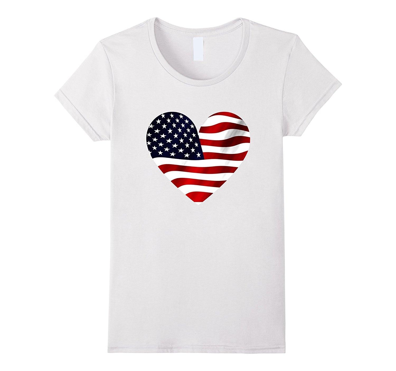 usa flag heart t shirt american patriotic shirts 4th of