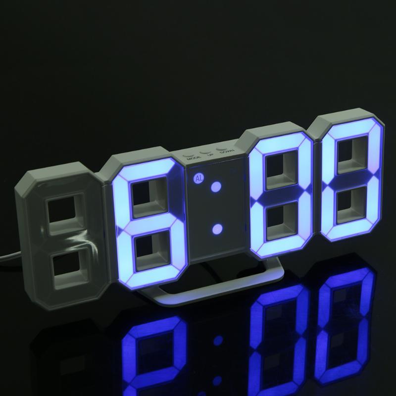 Digital LED Table <font><b>Clock</b></font> Brightness Adjustable Modern Electronic Alarm <font><b>Clock</b></font> Fashion Wall Hanging <font><b>Clock</b></font> with USB Cable