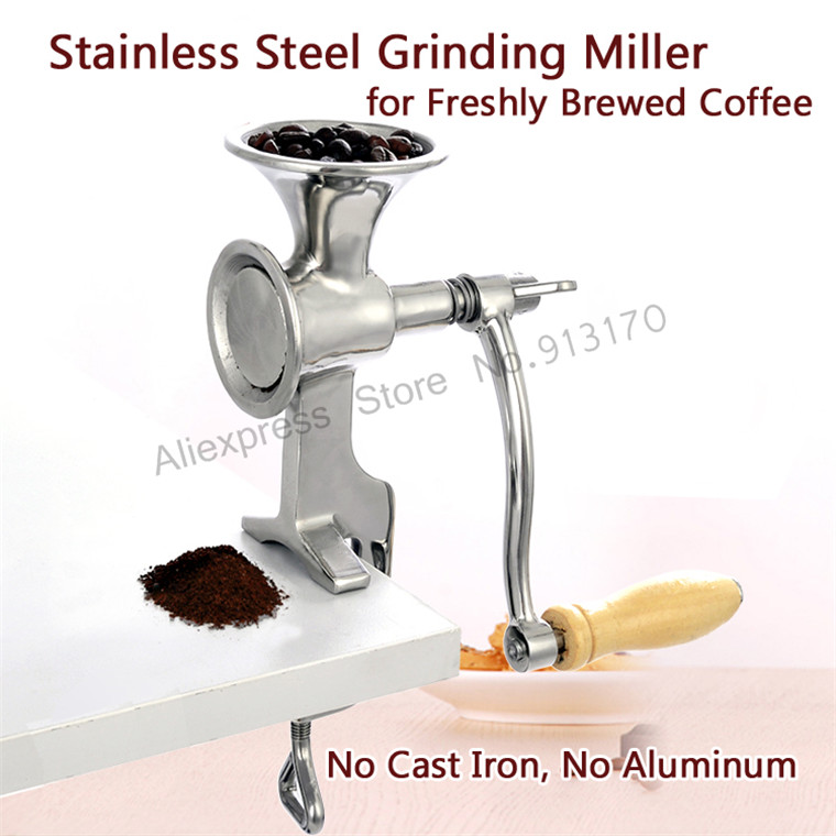 Stainless Steel Grinding Machine Coffee Bean Grinder Miller Walnut Peanut Pulverizer for Chili Soybean stainless steel axle sleeve china shen zhen city cnc machine manufacture