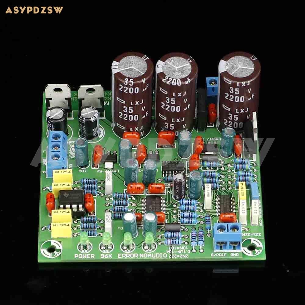 24 bits 192 K HZ DAC CS8416 + AK4396 + NE5532P SPDIF à la sortie audio DAC carte finie