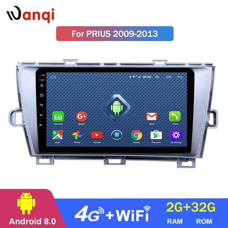 4G Lte Tutto Netcom 9 pollici Android 8.0 GPS di Navigazione Radio per il 2009-2013 Toyota Prius CON GUIDA A SINISTRA con bluetooth USB WIFI