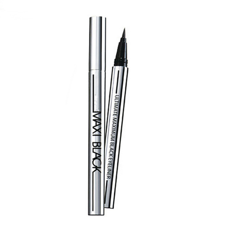 New Fashion Style Eyeliner Silver Tube Cool Black Quick-drying Waterproof Not Blooming Beauty Makeup Drop Shopping MU-186