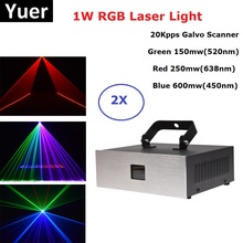 1W RGB Laser Projector Light Professional Stage Lighting Effect DMX Controller Dj Light Disco Wedding Stage Light Laser Disco 1w laser