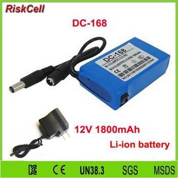 100pcs/lot High quality Super 12V DC 1800mAh dc-168 12V lithium ion Battery for CCTV security system