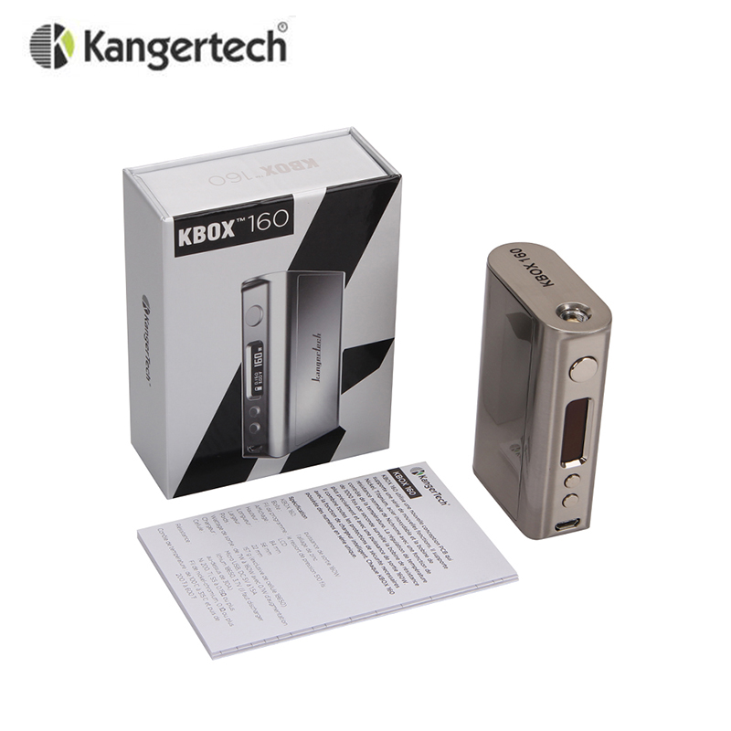 Original Kanger KBOX 160W TC VV/VW Box Mod Supports Ni/Ti/SS/NiCr Powered by Two 18650 Batteries