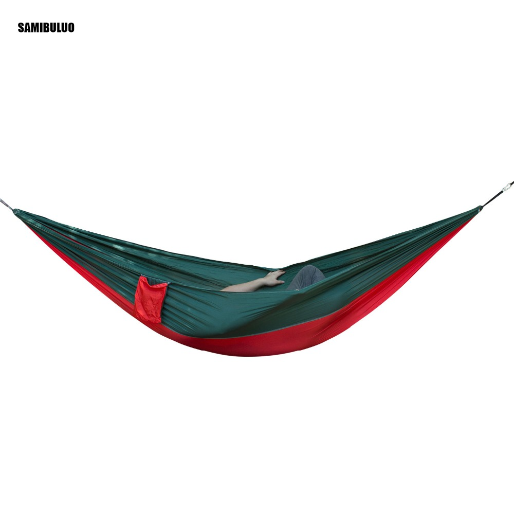 Portable Parachute Hammock 2 People Outdoor Survival Camping Hammocks Garden Leisure Travel Double Hanging Swing 270cmx140cm