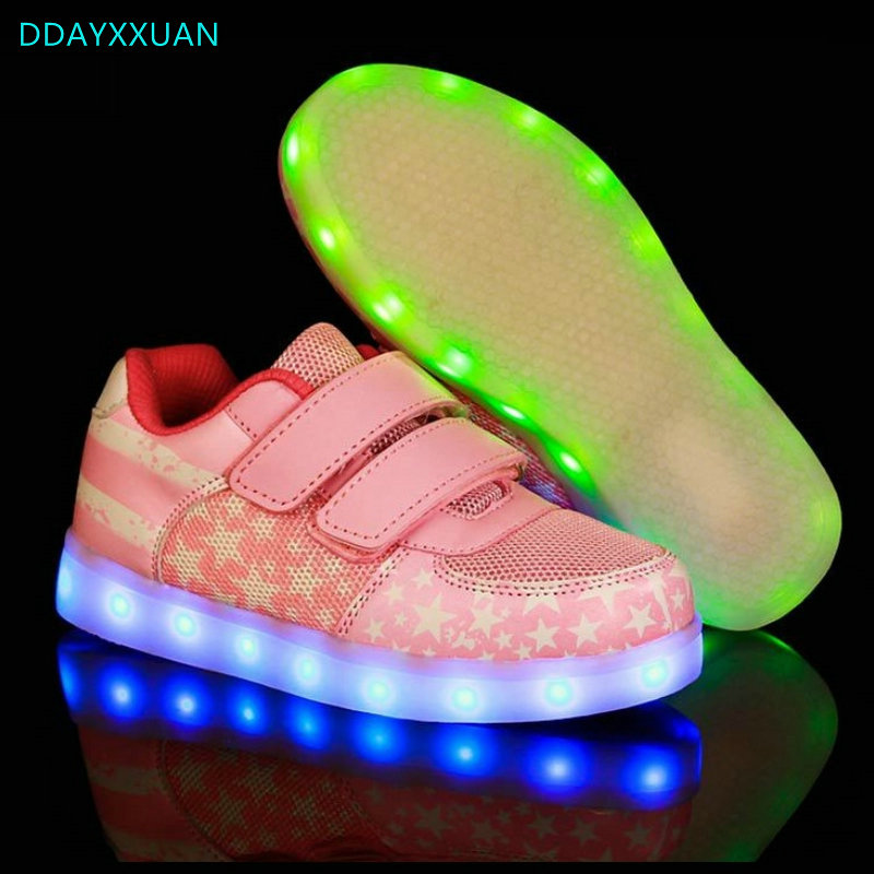 USB Charger children led shoes 2018 New Spring Girls glowing sneakers Kids Light Up shoes led Boys Casual Luminous SneakersUSB Charger children led shoes 2018 New Spring Girls glowing sneakers Kids Light Up shoes led Boys Casual Luminous Sneakers